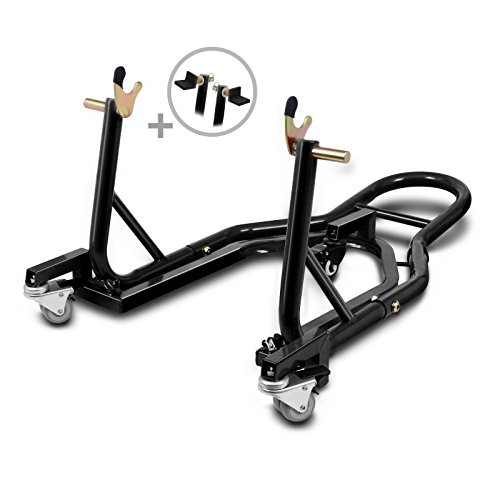 V-Strom 650//1000 VX 800 Van Van 125 ConStands Motorcycle Centre Stand Mover Dolly red for Suzuki TU 250 X Volty XF 650 Freewind