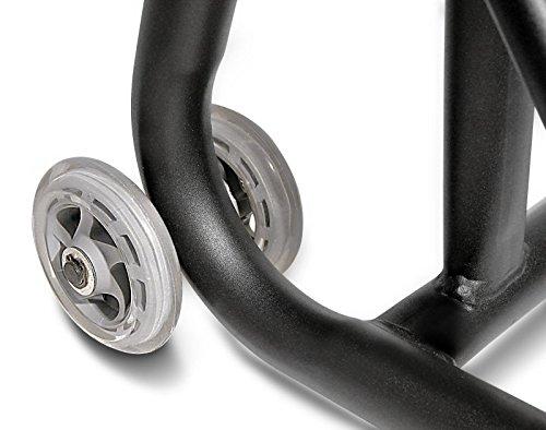 ConStands Rear Paddock Stand Ducati 1199 Panigale 12-14 black mat adaptor incl. Single Swing Arm