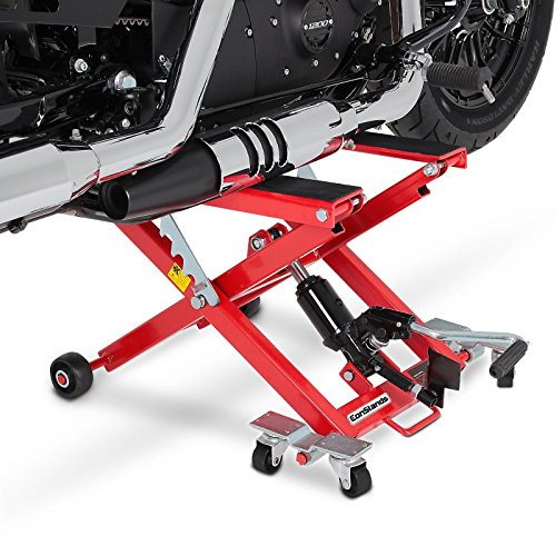Motorcycle jack constands mid lift xl red for harley for Sollevatore harley davidson